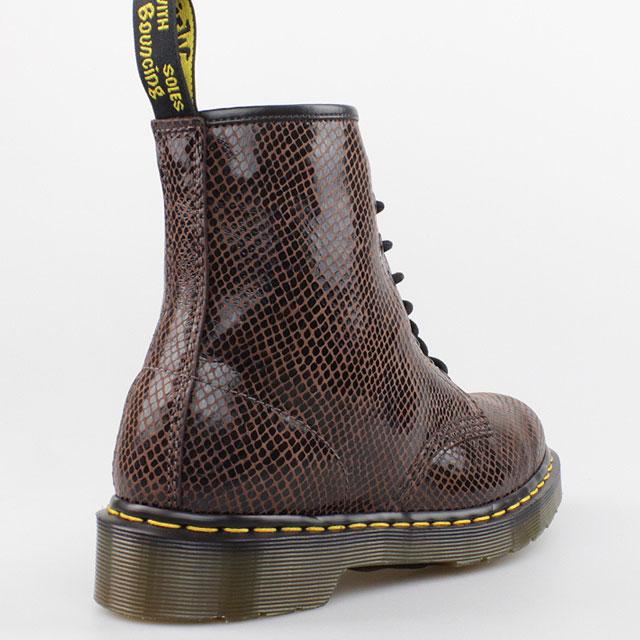 dr doc martens stiefel 8 loch boots brown braun snake. Black Bedroom Furniture Sets. Home Design Ideas