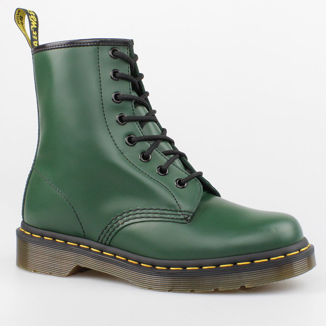 dr doc martens stiefel 8 loch boots smooth 59 green gr n. Black Bedroom Furniture Sets. Home Design Ideas
