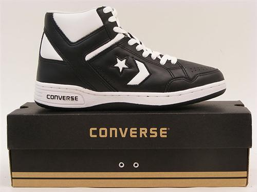 converse schuhe one star weapon 86 magic johnson schwarz weiss leder. Black Bedroom Furniture Sets. Home Design Ideas