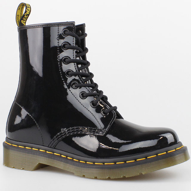 dr doc martens stiefel 8 loch boots black schwarz lack leder pascal 1460 schuhe ebay. Black Bedroom Furniture Sets. Home Design Ideas
