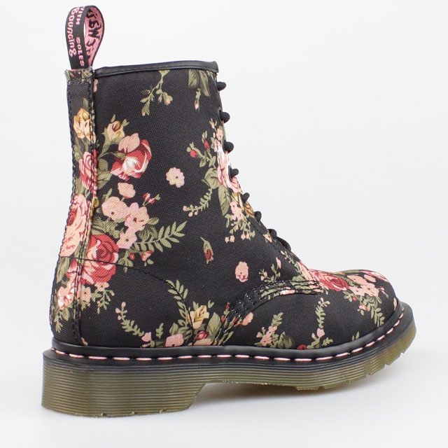 dr doc martens stiefel 8 loch boots victorian flower schwarz 1460 pascal schuhe ebay. Black Bedroom Furniture Sets. Home Design Ideas