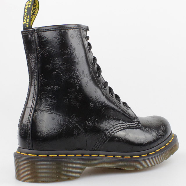dr doc martens stiefel 8 loch boots 1460 schwarz blumen flower pascal leder ebay. Black Bedroom Furniture Sets. Home Design Ideas