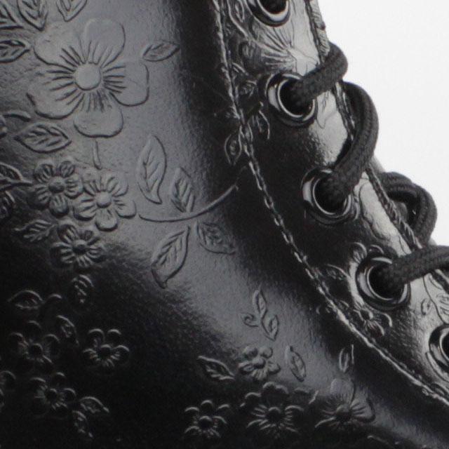 Dr Doc Martens Stiefel 8 Loch Boots 1460 Schwarz Blumen