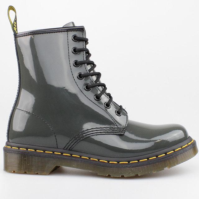 dr doc martens stiefel 8 loch boots 1460 grey grau lack. Black Bedroom Furniture Sets. Home Design Ideas