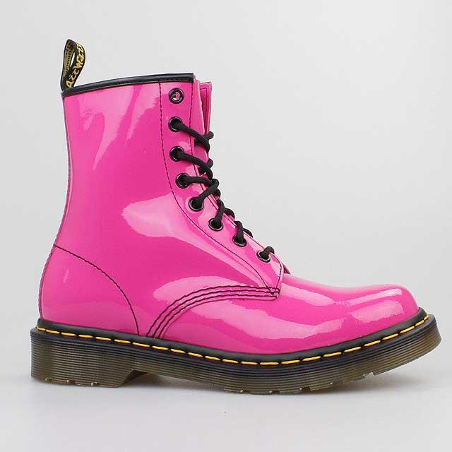 dr doc martens stiefel 8 loch boots hot pink lack leder. Black Bedroom Furniture Sets. Home Design Ideas