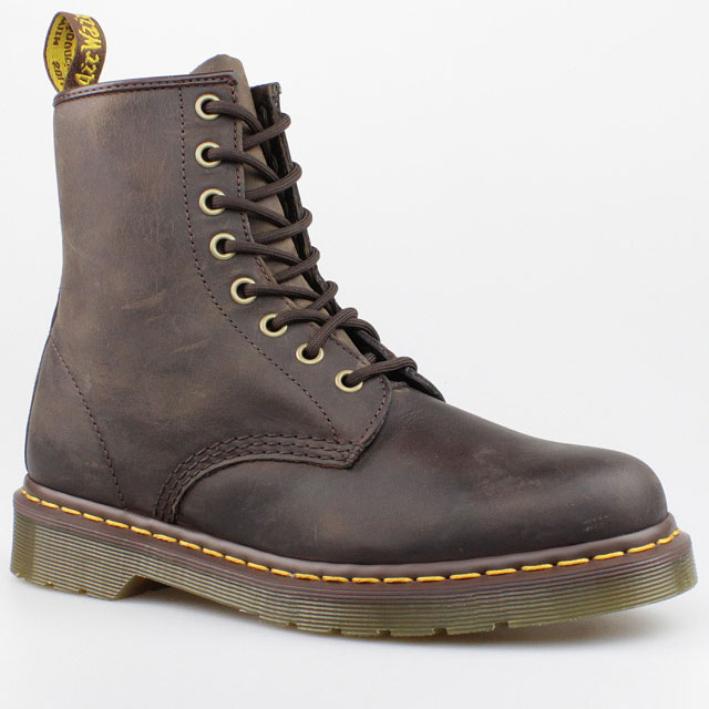 dr doc martens stiefel 8 loch boots gaucho braun brown leder 8eye pascal schuhe ebay. Black Bedroom Furniture Sets. Home Design Ideas
