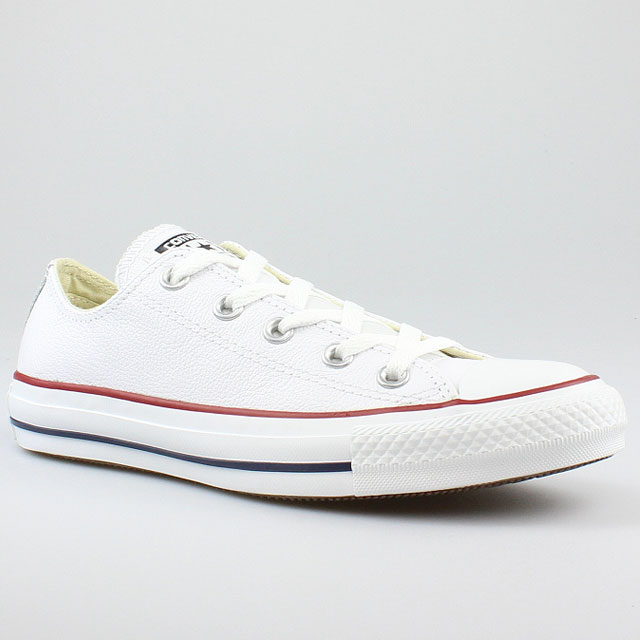 converse all star chucks ox classic leather optical white weiss leder. Black Bedroom Furniture Sets. Home Design Ideas