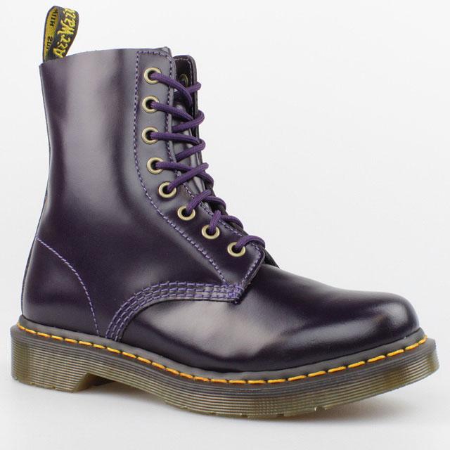 dr doc martens stiefel 8 loch boots pascal purpel schwarz. Black Bedroom Furniture Sets. Home Design Ideas