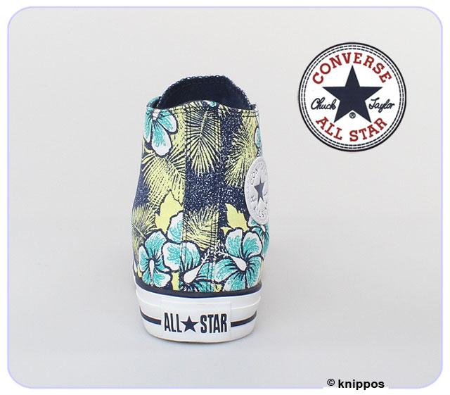 converse all star chucks hi hawaiian flowers print 136552c navy blau blumen schu ebay. Black Bedroom Furniture Sets. Home Design Ideas