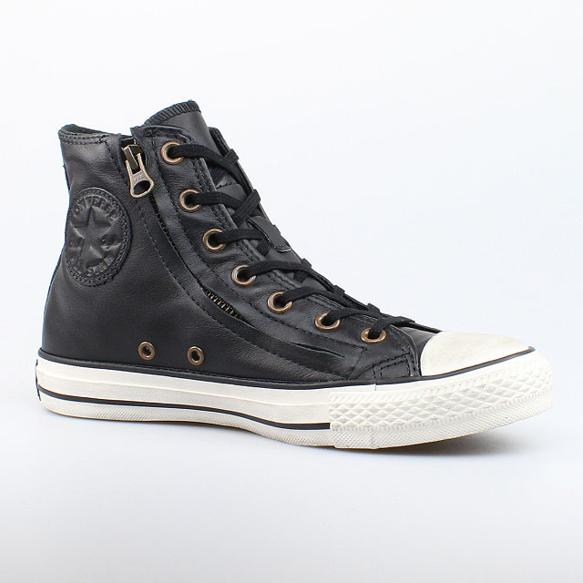 converse all star chucks hi leder schwarz black double zip. Black Bedroom Furniture Sets. Home Design Ideas