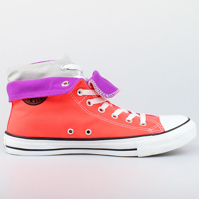 converse all star chucks two fold hi fiery coral neon. Black Bedroom Furniture Sets. Home Design Ideas