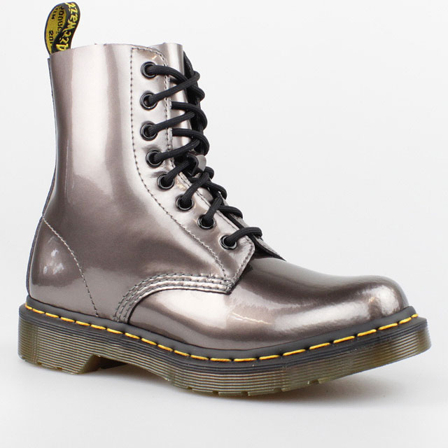 dr doc martens 8 loch boots pascal spectra silber stiefel. Black Bedroom Furniture Sets. Home Design Ideas