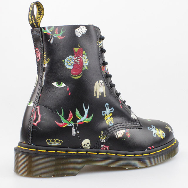 dr doc martens stiefel 1460 pascal 8 loch boots black tattoo schwarz. Black Bedroom Furniture Sets. Home Design Ideas