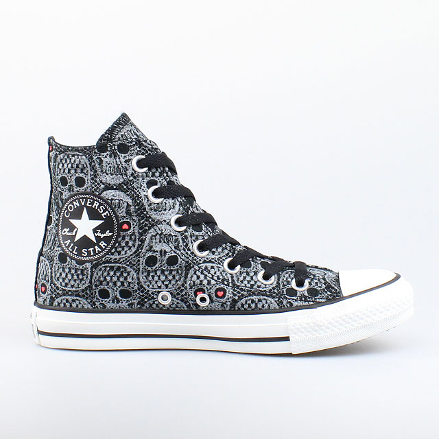 converse all star chucks hi black schwarz grau skull. Black Bedroom Furniture Sets. Home Design Ideas