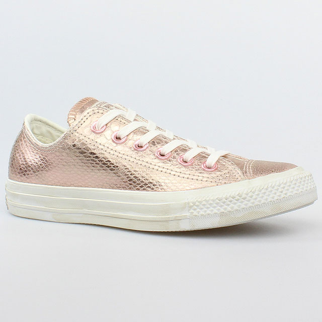 converse all star chucks ox rose gold white weiss rosa leder 542439c schuhe ebay. Black Bedroom Furniture Sets. Home Design Ideas