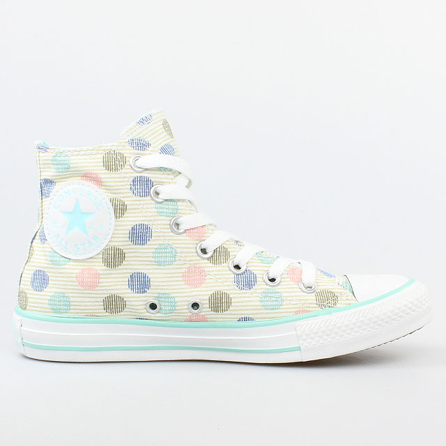 converse all star chucks polka dot print hi white multi. Black Bedroom Furniture Sets. Home Design Ideas