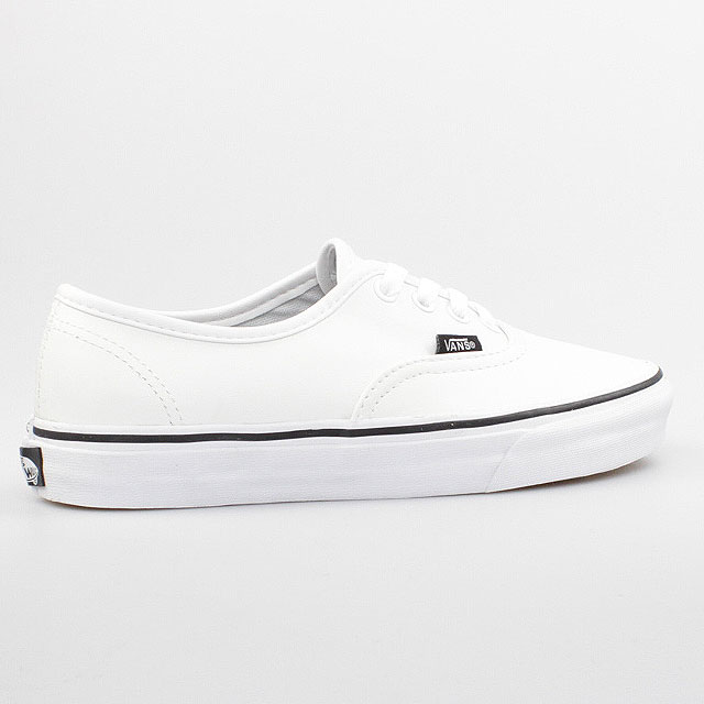 vans authentic weiss leder