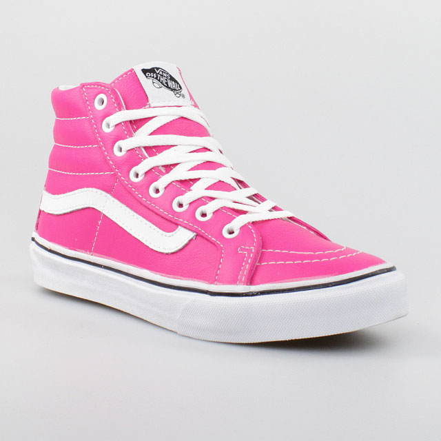 vans damen schuhe sk8 hi slim pink leder leather authentic. Black Bedroom Furniture Sets. Home Design Ideas