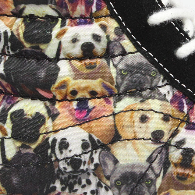 vans sk8 hi slim puppies dogs schwarz leder vqg3aq3. Black Bedroom Furniture Sets. Home Design Ideas