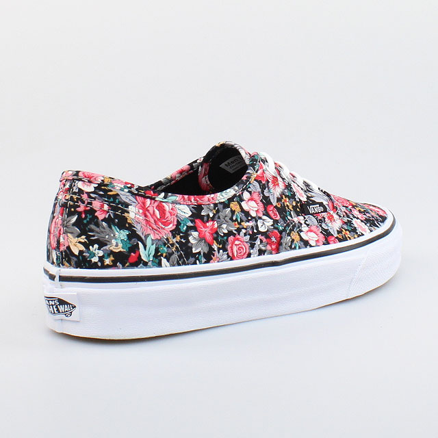 vans damen schuhe authentic ox multi floral blumen schwarz. Black Bedroom Furniture Sets. Home Design Ideas
