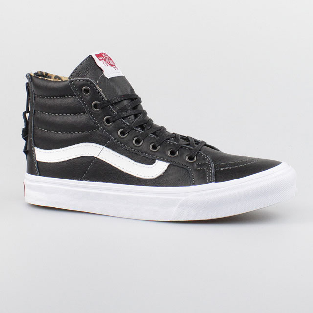vans damen schuhe sk8 hi slim zip leder black schwarz. Black Bedroom Furniture Sets. Home Design Ideas