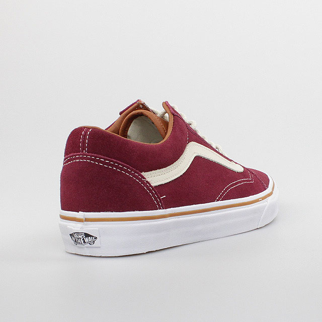 vans schuhe old skool bordeaux rot weiss red white leder. Black Bedroom Furniture Sets. Home Design Ideas