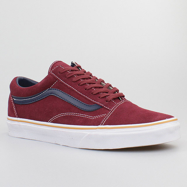 vans schuhe old skool suede leather oxblood red rot leder. Black Bedroom Furniture Sets. Home Design Ideas