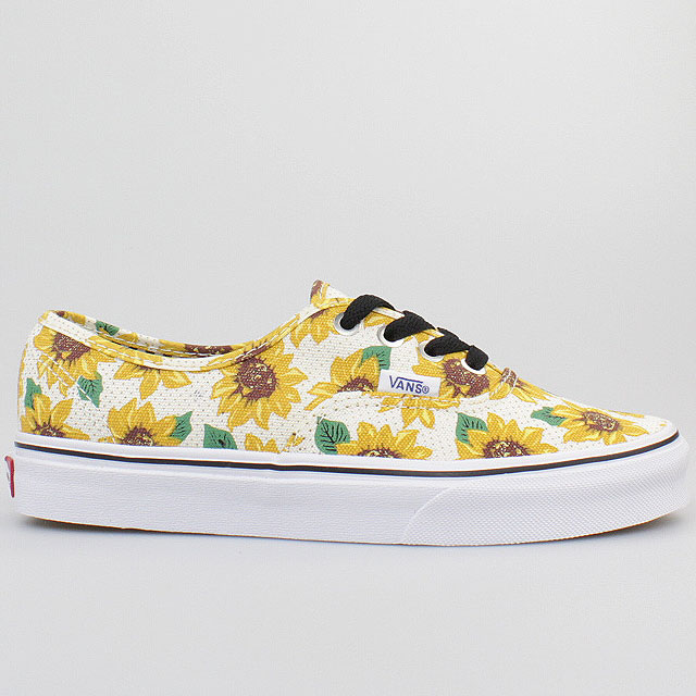 VANS-SCHUHE-AUTHENTIC-SUNFLOWER-TRUE-WHITE-SONNEN-BLUMEN-WEISS-VZUKFN0-ERA