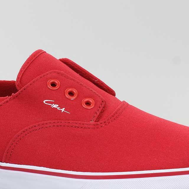 CIRCA-SCHUHE-VALEO-SLIP-RED-ROT-CANVAS-FORMULA-ONE-VALEOSLIPFOO