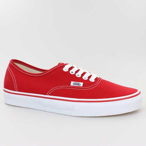 Canvas Vee3red Vans Red Rot Schuhe Authentic wPPI4qRF
